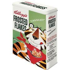 Scatola in Latta Kellogg's Frosted Flakes Tony Tiger  Vintage 8 X 19 X 26 Cm.