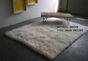 """SUPER THICK FLOKATI RUG~SOFT ORGANIC 3.25"""" WOOL PILE~OUR MOST POPULAR THICKNESS"""