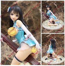 Hentai Anime art sexy naked blue cheongsam Chinese zither girl PVC figure nobox