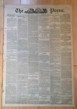 1870 newspaper FREDERICK DOUGLASS 2 BECOME EDITOR of NATIONAL ERA Colored Paper