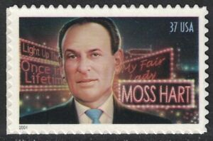 Scott 3882- Moss Hart, Playwright- MNH (S/A) 37c 2004- unused mint stamp