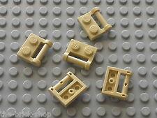 5 x LEGO Tan Plate ref 48336 / set 4504 10179 10196 7621 8016 10131 6210 5378...