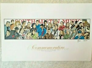 South Austin Music Commemorative by Aaron Sacco Art Print Signed 2007