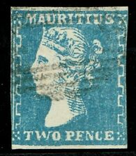 Mauritius 1859 SG43a 2d Blue Dardenne Light Cancel Fine Used Cat. £950.00