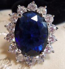 kENNETH J LANE KJL  Beautiful sparkly Faux Sapphire Crystal Ring Dianne  SZ 5