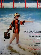ELLE N° 0499 TELEVISION DECORATION BABAR DE BRUNHOFF MODE MAGAZINE FEMININ 1955
