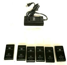 Lot of 6 Batteries And Charger For Sony Camcorder Power Adapter NP-55H EUC