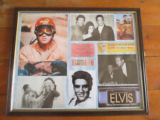Elvis Presley Framed Photos pictures memorabilia large tickets