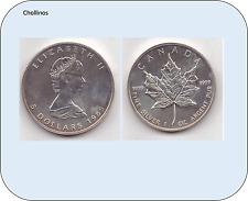 5 DOLARES DE PLATA AÑO 1989   CANADA    ( MB11415 )