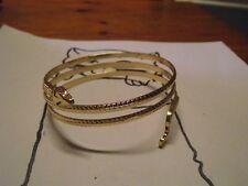 1 Bracelet serpent plaqué or
