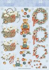 3D Motivbogen Etappenbogen Bilderbogen Grußkarte Weihnachten (276)