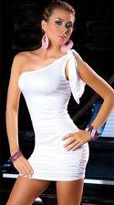 Mini robe de soirée cocktail chic sexy dress blanc moulante neuf M