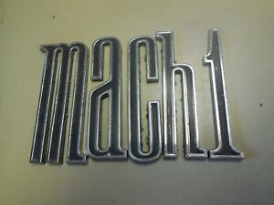 Used Original 1970 Ford Mustang Mach 1 Trunk Letters