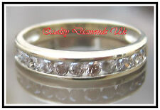 .50CT REAL DIAMOND HALF ETERNITY RING YELLOW GOLD BAND