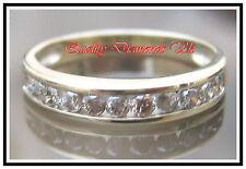 .50CT REAL DIAMOND HALF ETERNITY RING YELLOW GOLD BAND