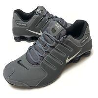 Nike Shox NZ Running Shoes Dark Grey Metallic Iron Ore 378341-059 Men's Size 10