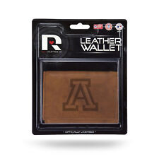 Arizona Wildcats NCAA Embossed Brown Leather Trifold Wallet