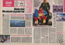 Coupure de presse Clipping 1989 Nicolas Hulot Harricana  (2 pages)