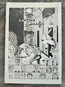 CAPTIVE CHAINS by RAYMOND PETTIBON ~ First Edition 1978 ~ 1st Print ~ Black Flag