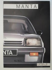 OPEL MANTA C orig 1986 French Mkt Sales Brochure Depliant - GT GSi