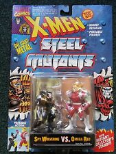Marvel Comics X-Men Steel Mutants Toy Biz Spy Wolverine Omega Red Die Cast Metal