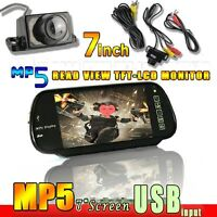 "7""Car Rear View Mirror Monitor LCD Screen DVD/GPS/TV USB Mp5 CMOS parking camera"