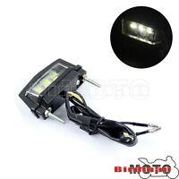 12V 3 LED Rear License Number Plate Light Motorcycle Bright Motorbike Universal
