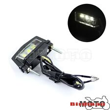 12V 3 LED Rear License Number Plate Light Motorcycle Bright Motorbike Universal