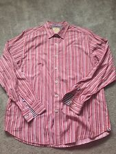 Tommy Bahama Men's Long Sleeve Striped Shirt Size Large 100% Cotton