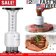 2in1 Steak Meat Tenderizer Needle Injector Marinator Flavor Sauces Kitchen Tool