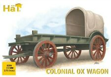 Hat industrie  1/72 Colonial Ox Wagon (3 Sets: Wagon, 2 Oxen & 2 Figs)  HAT8286