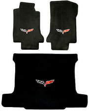 LLOYD MATS Velourtex™ 3pc FLOOR MAT SET; 2005-2013 Chevrolet Corvette  *C6 logos