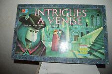 JEU DE SOCIETE  INTRIGUE A VENISE JOUET 89 COMPLET MB VINTAGE 1988