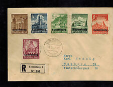 2 1941 Luxembourg Censored Occupation Covers to Germany Complete  Set NB1-NB9