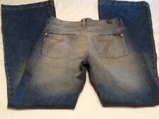 """7 For All Mankind Distressed Blue Jeans - Size 28 - 28""""x32"""""""