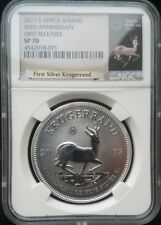 2017 South Africa 1oz Silver Krugerrand Privy Mark NGC First Release SP70