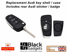 3 BUTTON REMOTE KEY CASE SHELL FOB WITH LOGO FOR AUDI A4 A6 Q3 Q5 TT U.K SELLER