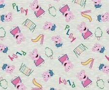FAT QUARTER PEPPA PIG FABRIC  NICK JR BRITISH  PRESCHOOL  PLAYS AT THE PARK   FQ