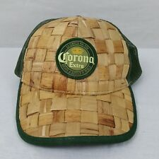 CORONA EXTRA Beer Adjustable Hat Cap Woven Straw Mesh Beach Pool Party Summer