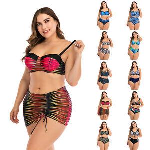 Plus Size Women's Swimsuit Two Piece Bikini Set Swimwear Monokini Bathing Suit