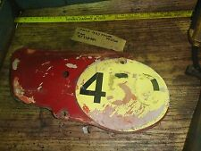 MAICO 440 magnum 1979 left side cover/# plate I have more parts for this bike
