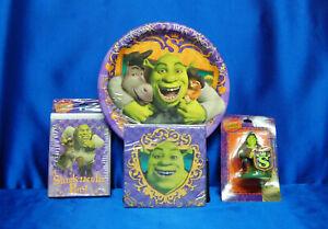 Shrek Party Set # 4  Shrek Napkin Shrek Shrek Plates Candle Shrek Invites