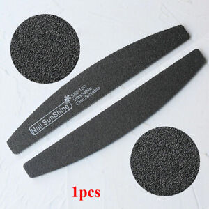 New Zebra Sanding Nail Files Manicure Professional 100/180 Grit Sandpaper File