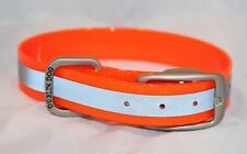 NWOT Dublin Dog COLLAR Reflective Orange KOA Medium No stink 12.5-17""