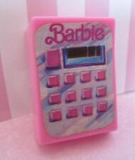 Barbie Mattel 1987 pink CALCULATOR Grocery Store Plaza Mall Office Desk Diorama