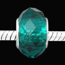 European Style faceted emerald green Bead- Free Bracelet Offer!