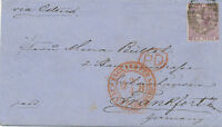 """2427 """"4"""" = LONDON INLAND BRANCH 1864 QV 6d lilac small white corner letters (QC)"""