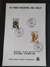 HOJA RECUERDO ESPAÑA 1982 DGCT XV FERIA NACIONAL DEL SELLO