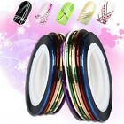 10Pcs Mixed Colors Pretty Rolls Striping Tape Line Nail Art Phone Decor Sticker