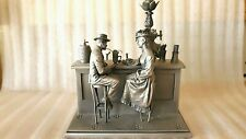 1977 Incredibly Detailed Franklin Mint Pewter Figurine/Sculpture-Soda Fountain